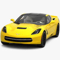 3ds max corvette c7 stingray