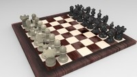 board pawns kings 3d max