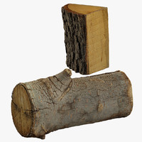 3d realistic wood logs model