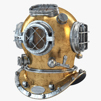 navy diving helmet 02 3d model