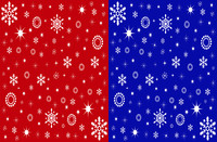 two christmas tileable texture
