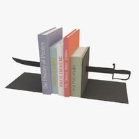 3d model bookends book