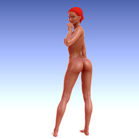 3d zbrush female character model