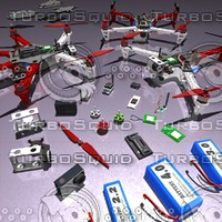 tricopter quadrocopter hexacopter 3d max