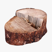 wooden stump obj