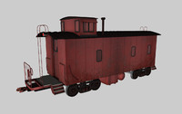caboose train car 3d c4d