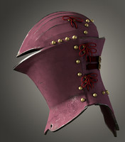 3d model jousting helm stechhelm