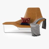 zanotta lama lounge chair 3d max