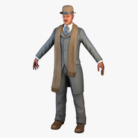 3d max gentleman coat