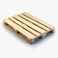 3d wooden euro pallet
