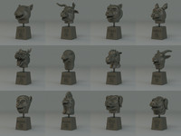 3d model of chinese zodiac
