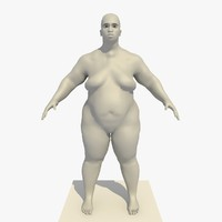 3d base mesh obese 25