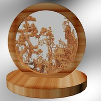 chinese carving 3d model