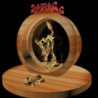 3d max chinese dragon