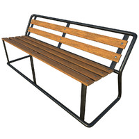 Park bench - Game ready with PBR textures