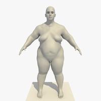 base mesh obese 25 3d c4d