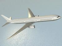 b 767-400 er airliner 3d model