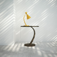 Curvy Lamp and Table