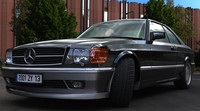 car mercedes luxury 500 3d max