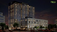 Commercial Night View Exterior 3D Cgi View