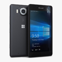 3d model microsoft lumia 950 black