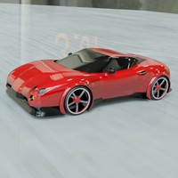 Red sports car concept