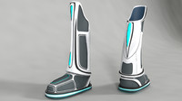 shoe sci-fi futuristic 3d model