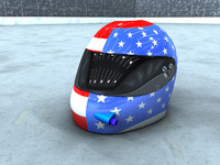racing helmet 3d model