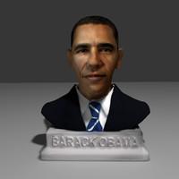 barack obama bust 3d max