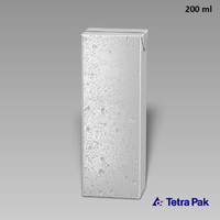 tetrapack water drops 3d model