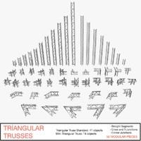 triangular trusses 002 obj