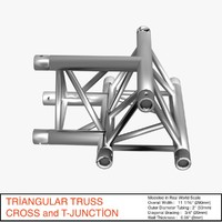 3d model triangular truss cross t