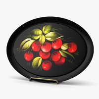 3d model of plates cherry