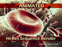 Red Blood Cells Animated & Hi-res sequence render