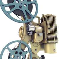 3d old 8mm projector
