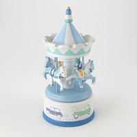 musical carousel globe trotter 3d model
