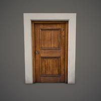 wooden door 3d x