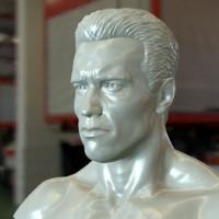 3d bust arnold schwarzenegger printable model