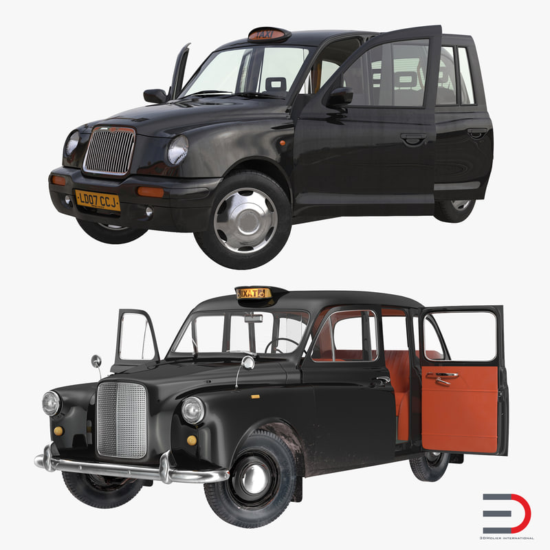 London Cabs Rigged 3d models Collection 00.jpg