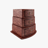dresser wood 3d max