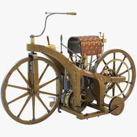 daimler reitwagen motorcycle 1885 3d max