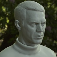 3d printable steve mcqueen male man model