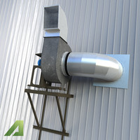 industrial ventilation 3d max