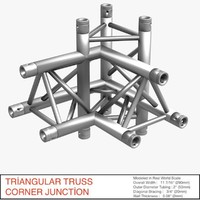 triangular truss corner junction max