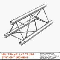 mini triangular truss straight 3d 3ds