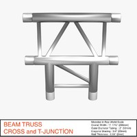 3d beam truss cross t
