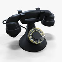 3ds max rotary phone