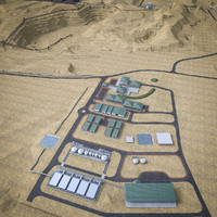 industrial mining complex 3d max