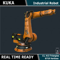 ready kuka industrial robot 3d model
