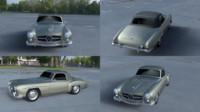 3d model mercedes 190sl